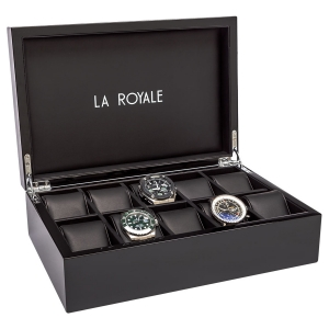 La Royale Felice XL Pianolak Horlogebox - 10 horloges