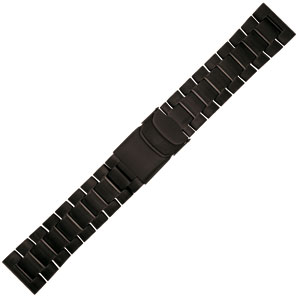 Luminox 3050, 3150, 3180, 4220, 4240 Series Zwart Stalen Horlogeband - FM.L.BRAC.3150.60