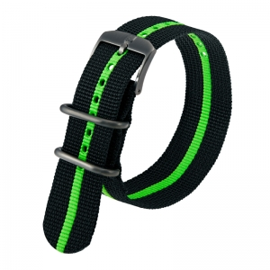 Luminox 3050, 3060, 3080, 3090, 3150, 3950 ZULU Strap Black Green Nylon 23mm - FN.3950.60