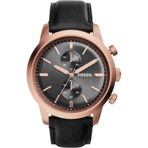 Fossil FS5097 Horlogeband Zwart Leer