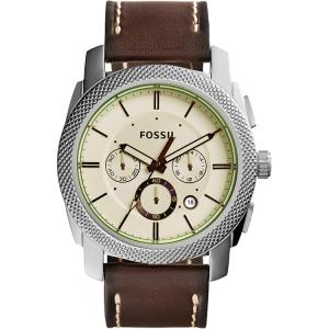 Fossil FS5108 Horlogeband Bruin Leer