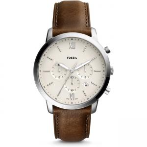 Fossil Neutra Chrono FS5380 Horlogeband Bruin Leer