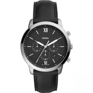 Fossil Neutra Chrono FS5452 Horlogeband Zwart Leer