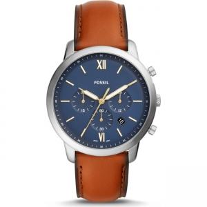 Fossil Neutra Chrono FS5453 Horlogeband Bruin Leer