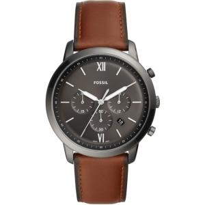 Fossil Neutra Chrono FS5512 Horlogeband Bruin Leer