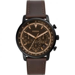 Fossil Goodwin FS5529 Horlogeband Bruin Leer
