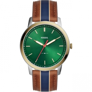 Fossil Minimalist FS5550 Horlogeband Bruin Leer