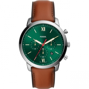 Fossil Neutra Chrono FS5735 Horlogeband Bruin Leer