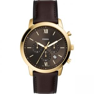Fossil Neutra Chrono FS5763 Horlogeband Bruin Leer