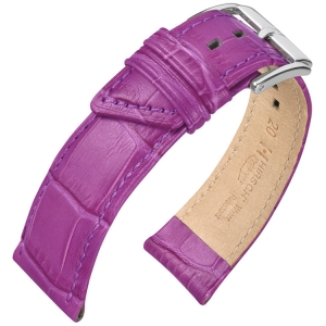 Hirsch Princess Horlogebandje Alligatorgrain Lila