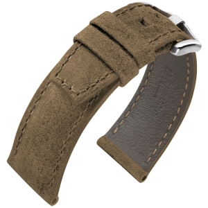 Hirsch Tritone Kudu Horlogeband voor Panerai Koedoe Antilope Leer Mat Bruin