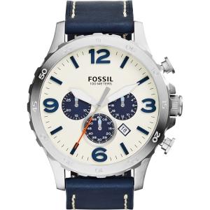 Fossil JR1480 Horlogeband Blauw Leer