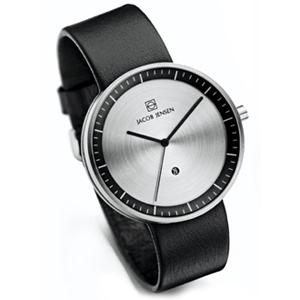 Jacob Jensen horlogeband Strata 270 Zwart Leer 20mm