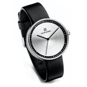 Jacob Jensen horlogeband Strata 280 Zwart Leer 16mm