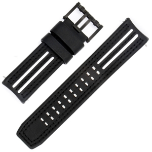 Luminox Tony Kanaan Models 1146/1147 Horlogeband Zwart met Wit Leer 26mm - FE.1140.21B