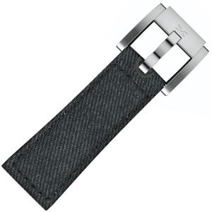 Marc Coblen / TW Steel Horlogeband Donkerblauw Denim op Leer 22mm