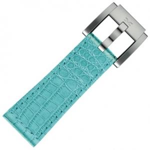 Marc Coblen / TW Steel Horlogeband Turquoise Leer Alligator 22mm