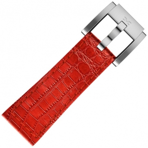 Horlogeband Rood Leer Alligator 22mm - Marc Coblen