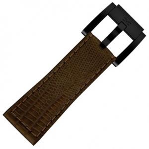 Horlogeband Bruin Leer Slang 22mm - Marc Coblen