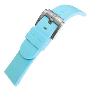 Marc Coblen / TW Steel Silicone Horlogeband Pastel Blauw 22m