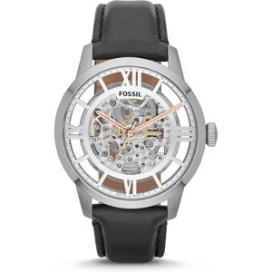 Fossil ME3041 Horlogeband Zwart Leer