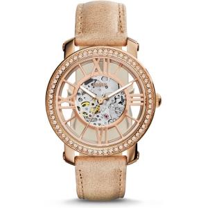 Fossil ME3060 Horlogeband Beige Leer