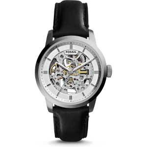 Fossil ME3085 Horlogeband Zwart Leer
