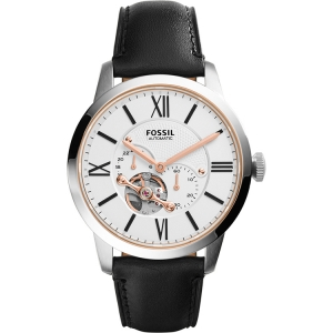Fossil ME3104 Horlogeband Zwart Leer