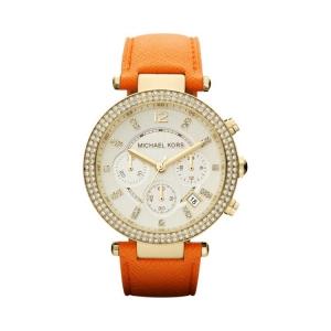 Michael Kors MK2279 Horlogeband Oranje Leer