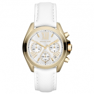 Michael Kors MK2302 Horlogeband Wit Leer