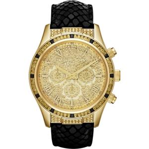Michael Kors MK2310 Horlogeband Zwart Leer