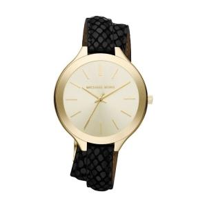 Michael Kors MK2315 Horlogeband Zwart Leer
