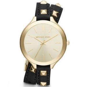Michael Kors MK2317 Horlogeband Zwart Leer