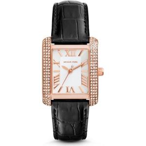 Michael Kors MK2336 Horlogeband Zwart Leer