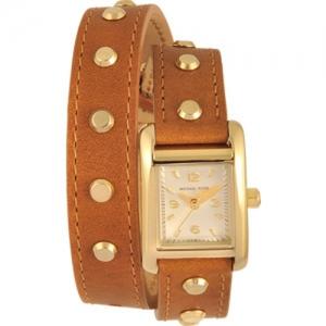 Michael Kors MK2340 Horlogeband Bruin Leer