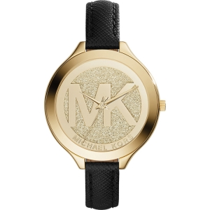 Michael Kors MK2392 Horlogeband Zwart Leer
