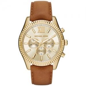 Michael Kors MK8447 Horlogeband Bruin Leer