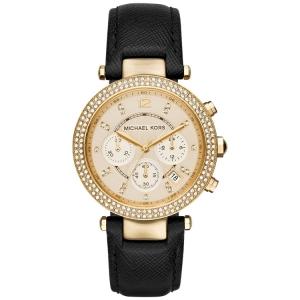 Michael Kors MK2423 Horlogeband Zwart Leer