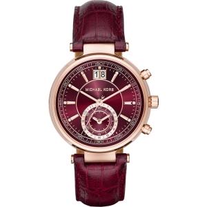 Michael Kors MK2426 Horlogeband Bordeauxrood Leer