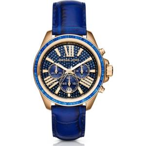Michael Kors MK2450 Horlogeband Blauw Leer