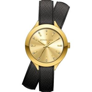 Michael Kors MK2502 Horlogeband Zwart Leer