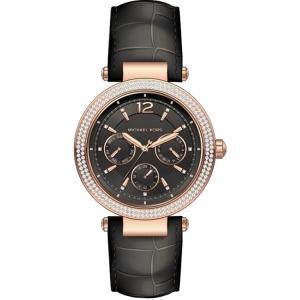 Michael Kors MK2547 Horlogeband Zwart Leer