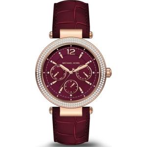 Michael Kors MK2568 Horlogeband Rood Leer