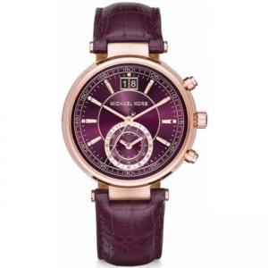 Michael Kors MK2580 Horlogeband Paars Leer