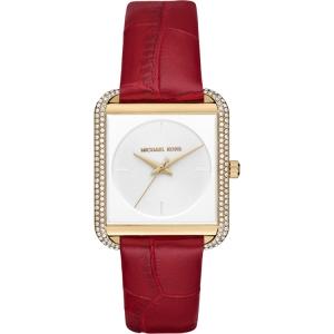 Michael Kors MK2623 Horlogeband Rood Leer
