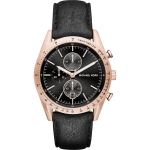 Michael Kors MK8440 Horlogeband Zwart Leer
