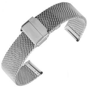 Mesh Milanaise Horlogebandje Geweven Staal