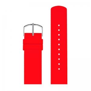 Picto 43367 Horlogebandje Rood Rubber 20mm