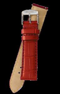 Fromanteel Alligatorgrain Horlogeband Rood