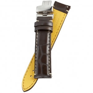 Fromanteel Pendulum Horlogeband Alligatorgrain Bruin met Vouwsluiting L/XL